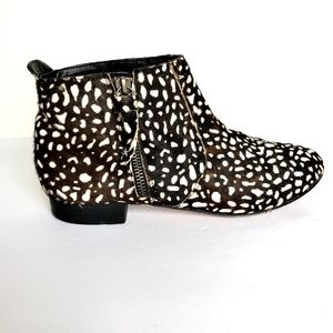 Dolce Vita Animal Print Real Calf Hair Booties